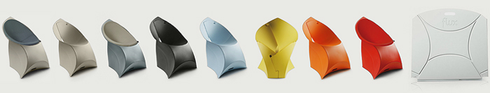 Flux folding chair colours