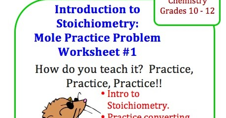 classroom freebies chemistry mole stoichiometry practice problem worksheet. Black Bedroom Furniture Sets. Home Design Ideas