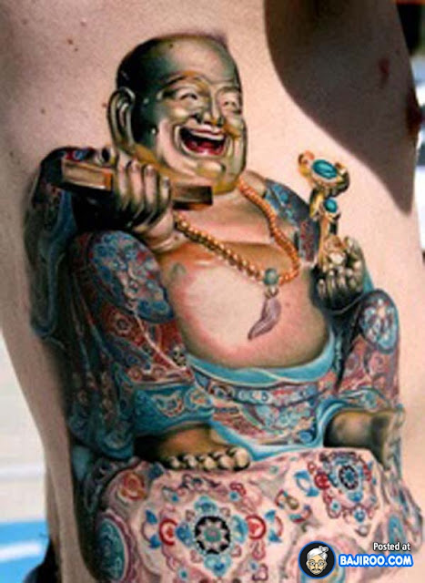 3d tattoos 2013 for Happy buddha tattoo