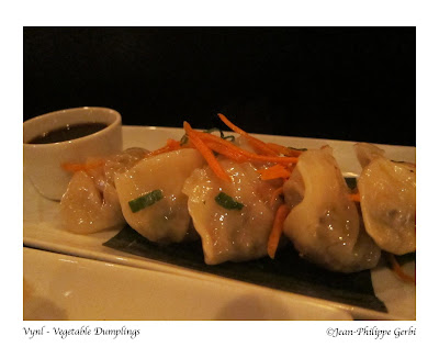Image of Vegetable dumplings at Vynl in Hell's Kitchen NYC, New York