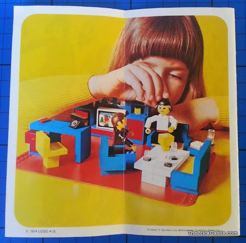 LEGO 1974 leaflet new kitchen bricks