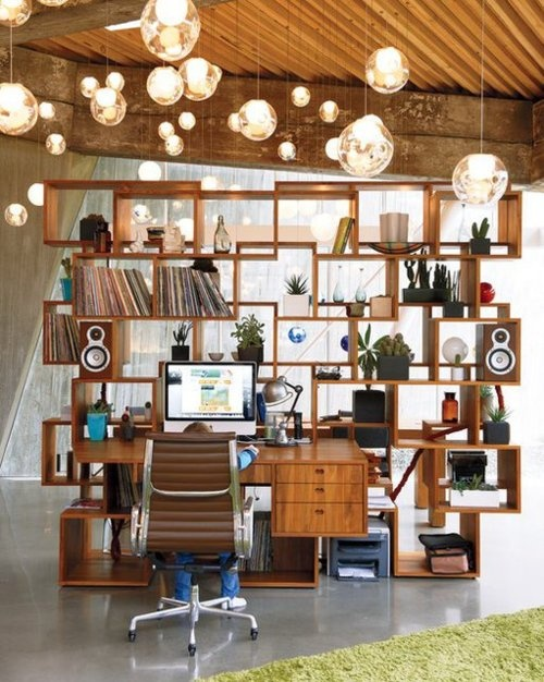 Lighting and shelving idea for your home