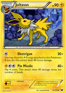 Jolteon Dark Explorers Pokemon Card