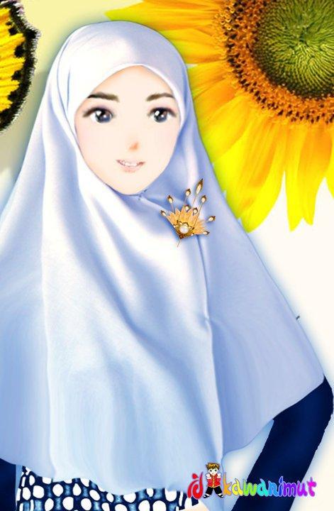 Kartun Muslimah.•*´¯)