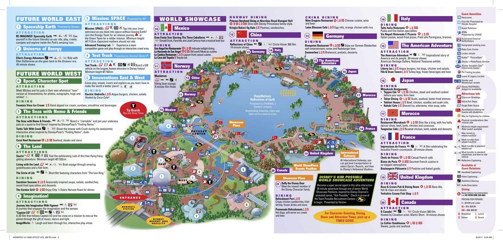 Disneyland Paris Guide Map