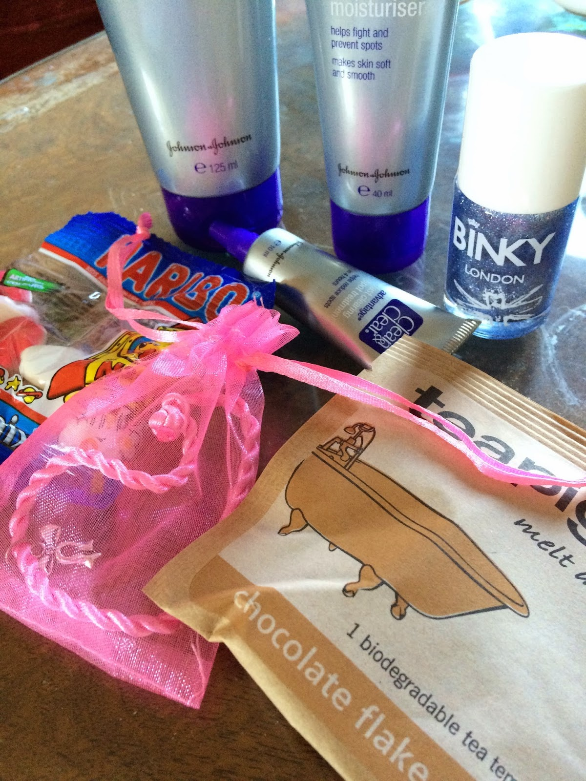 contents of Pink Parcel