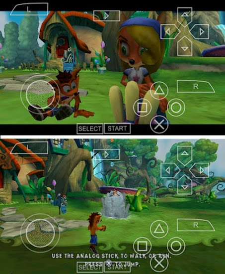 Game PSP Crash Of Titans ISO For Android Emulator PPSSPP
