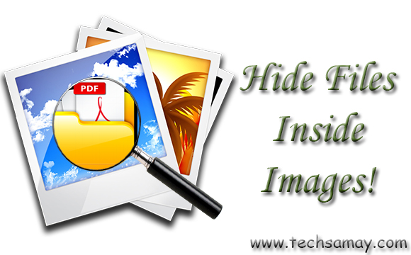 Hide files inside images