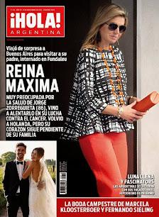 Tapa revista Hola Argentina. 18 de noviembre de 2014