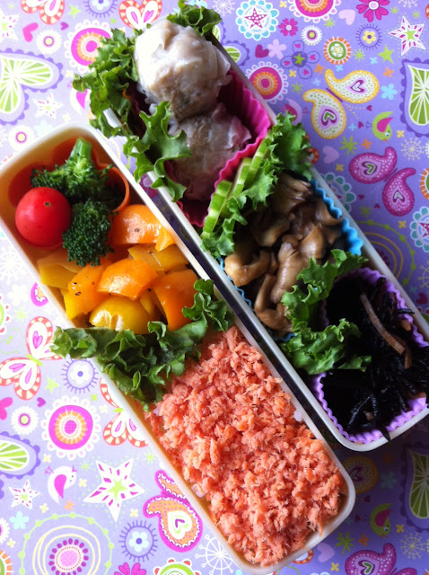 lunch, bento, salmon, さけ弁当