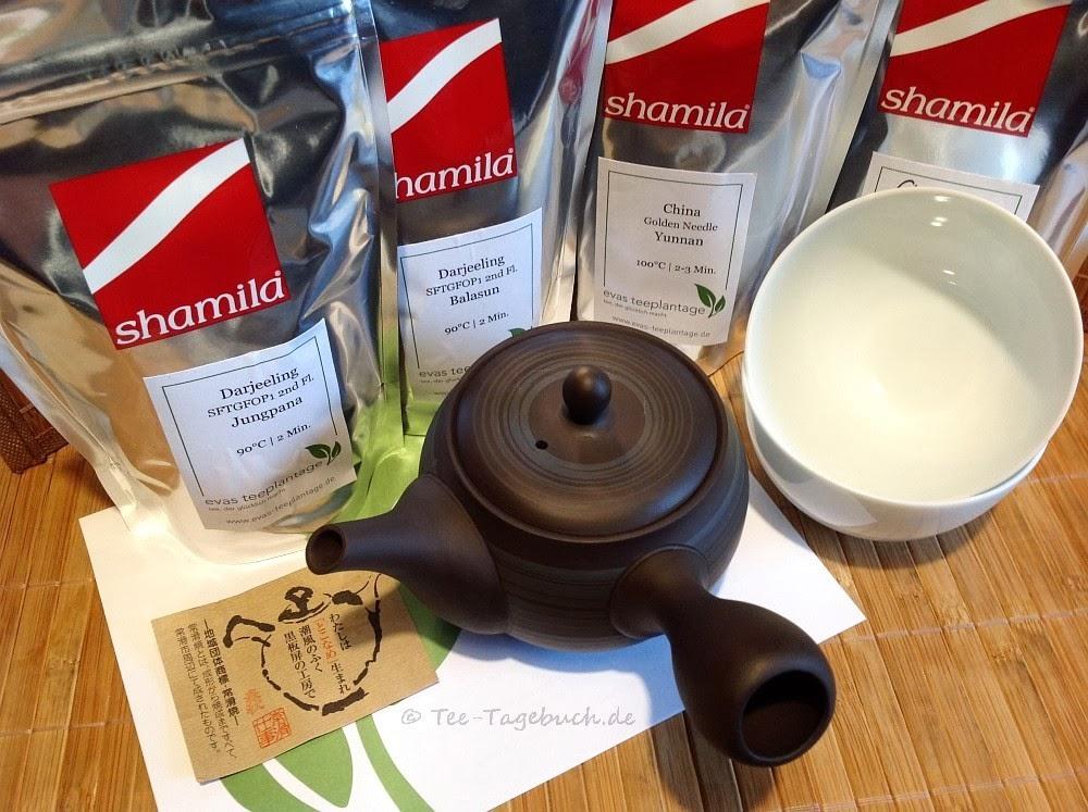 Tee und Geschirr von Evas Teeplantage