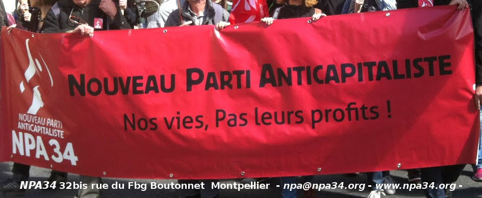 NPA 34 anticapitalistes dans l'Hérault