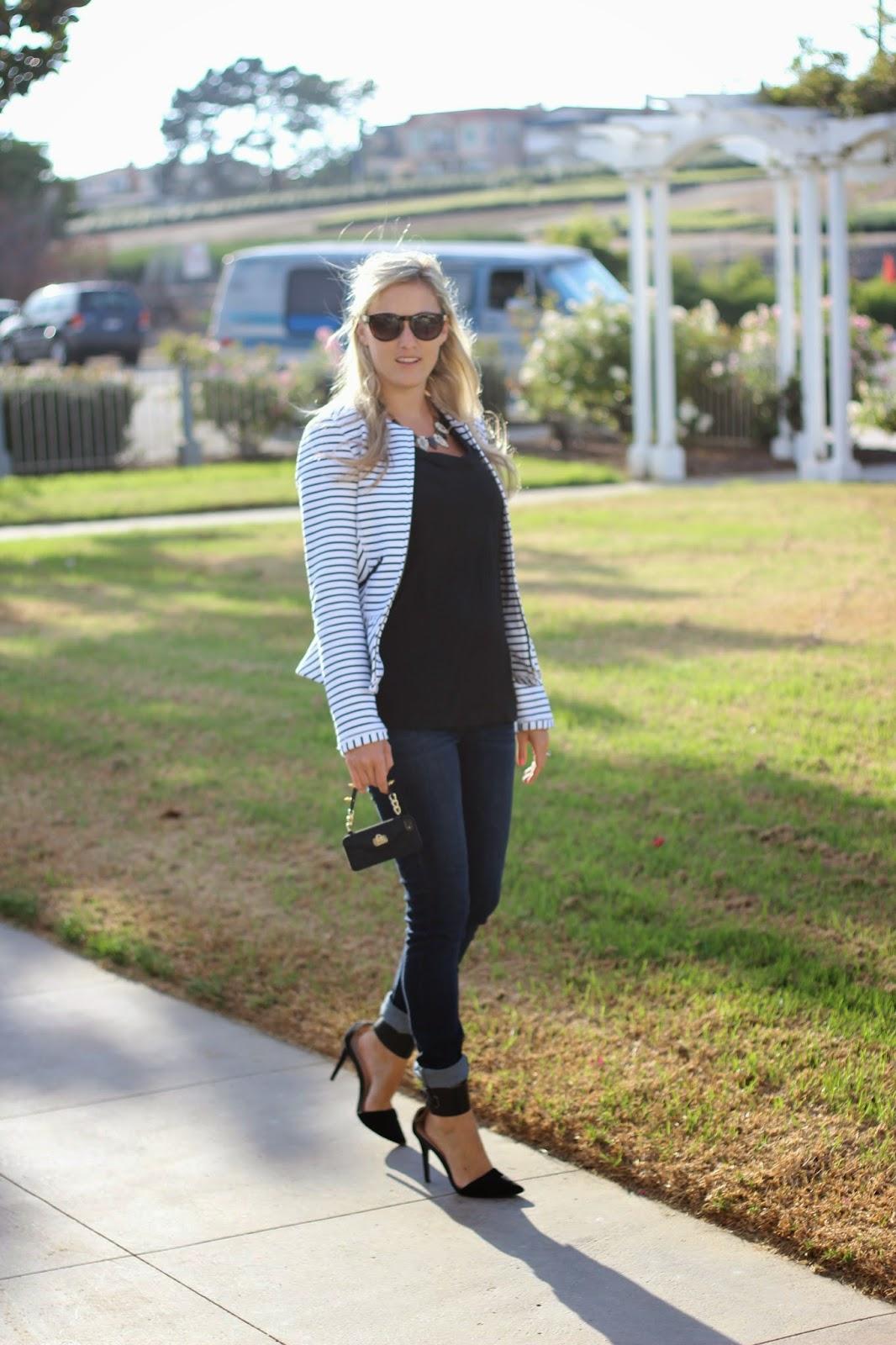Striped jacket, Kensie Jean, Pursecase