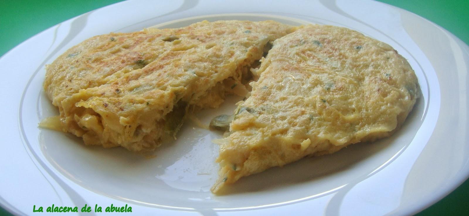 La alacena de la abuela carmen tortilla de bacalao estilo for Cocina casera de la abuela