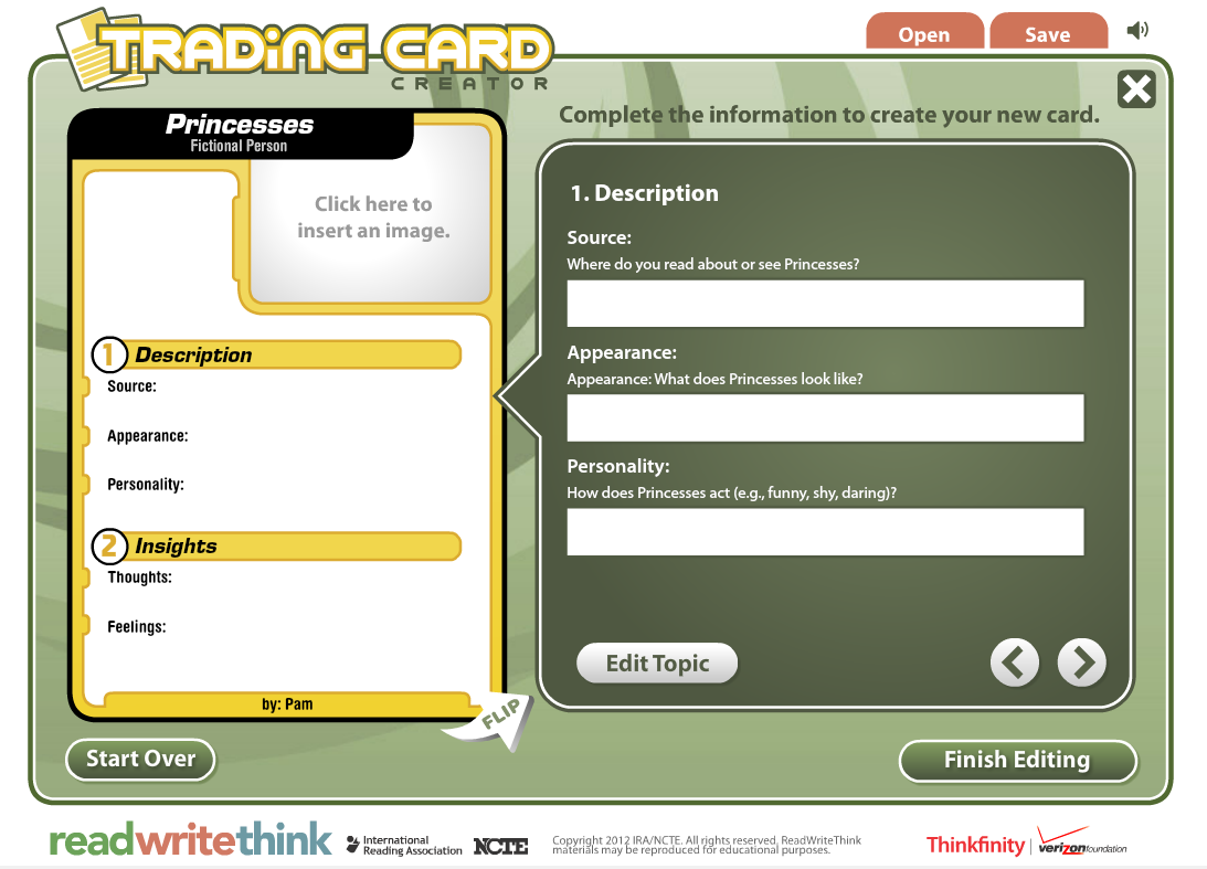 Wednesday Web Tool: Digital Trading Card Creator from Read, Write ...