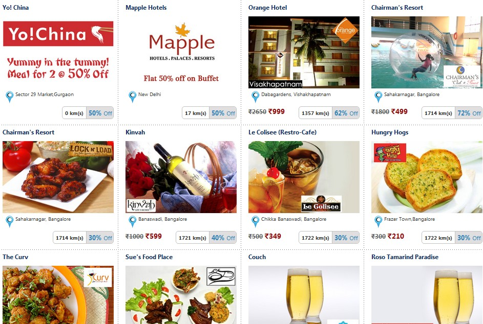 Snapdeal food coupons bangalore
