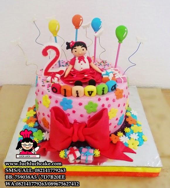 Kue Tart Ulang Tahun Untuk Anak Perempuan Daerah Surabaya - Sidoarjo