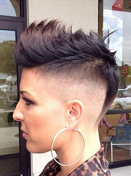 La moda en tu cabello peinado mohawk o mohicano para mujeres for Peinado fade