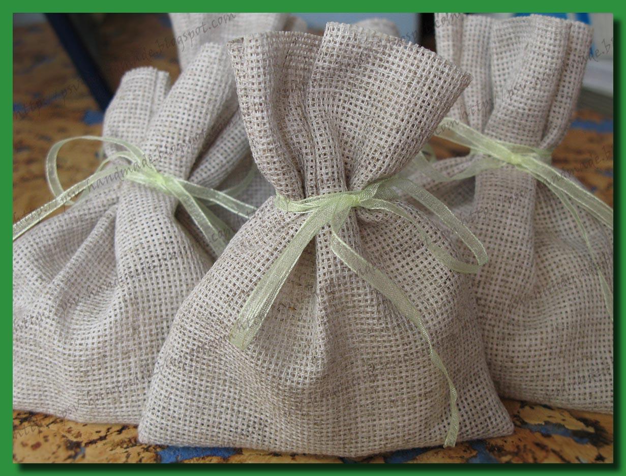 Мыло своими руками - ромашковое в упаковке из натуральных тканей