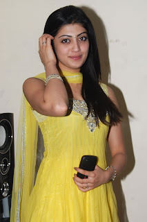 Praneetha Spicy in yellow Dress Photos