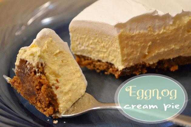 Sunny by Design: Eggnog Cream pie