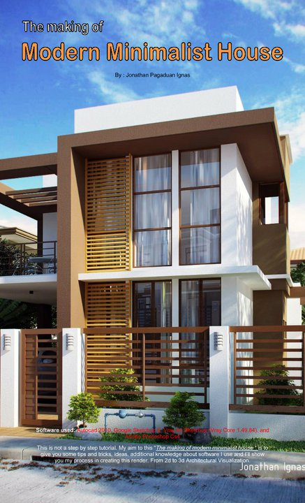 Nomeradona sketchup vr the making modern minimalist for Minimalist home designs philippines