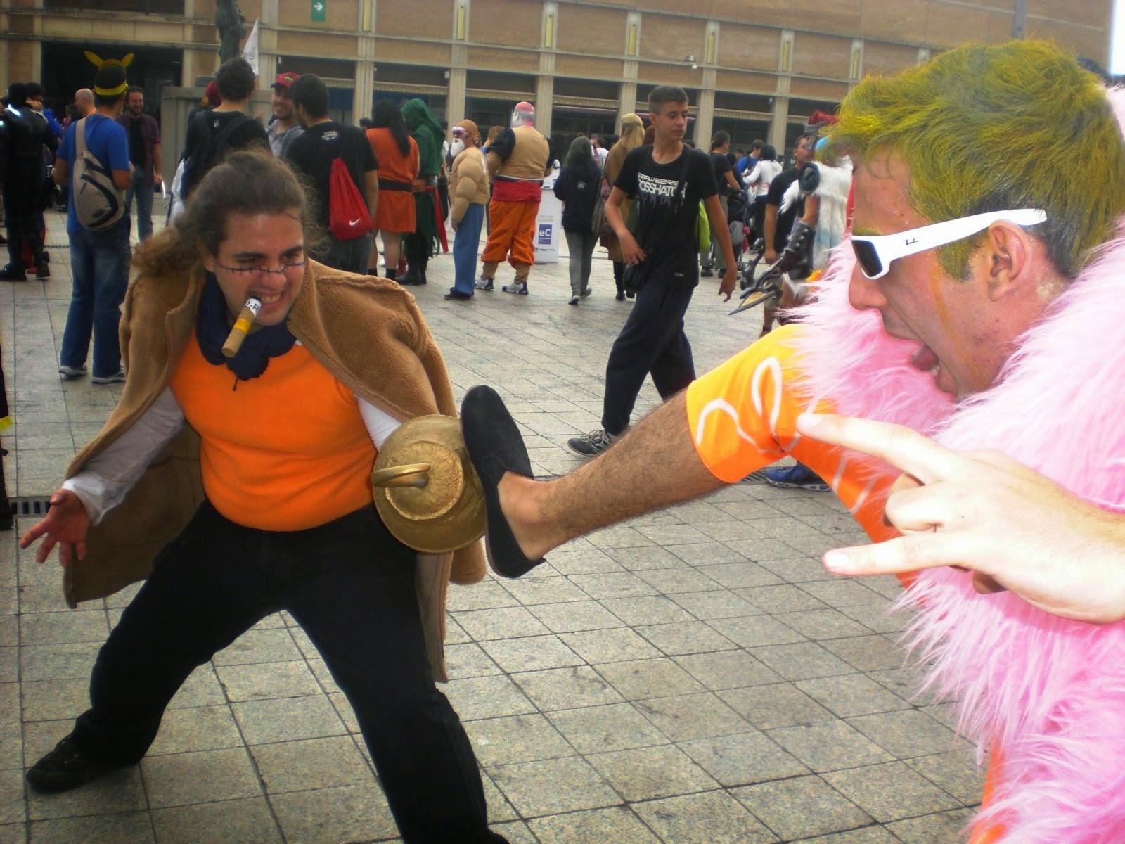 cosplays doflamingo y cocodraile