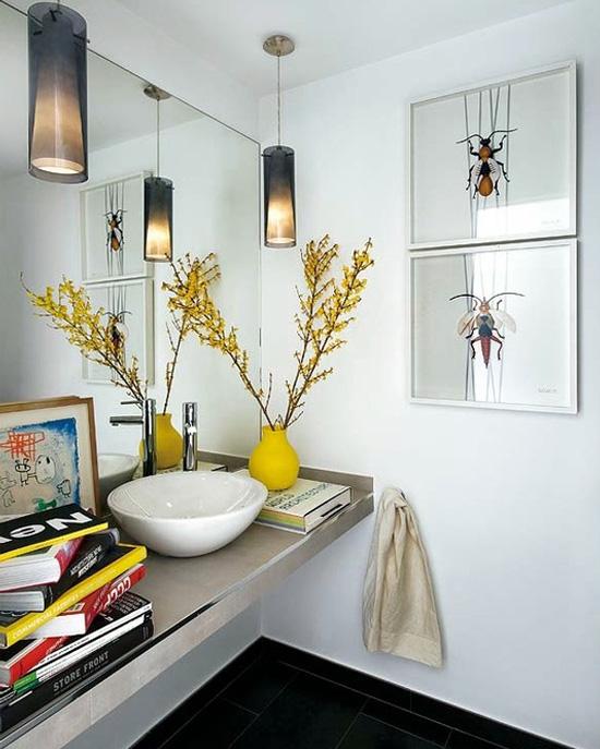 Construindo minha casa clean banheiros e lavabos maravilhosos - Luminarias para bano ...