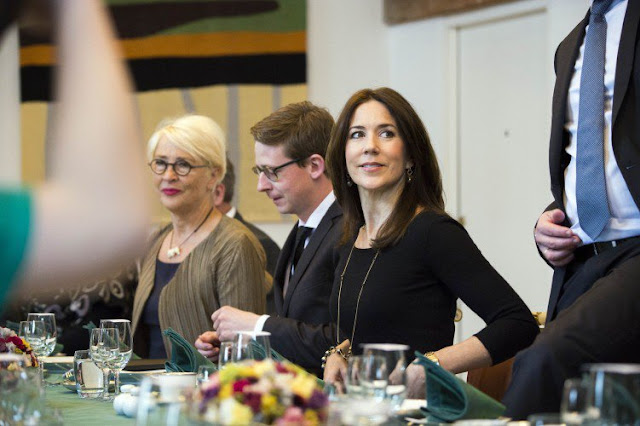 HRH Crown Princess Mary looked elegant in her Prada coat.