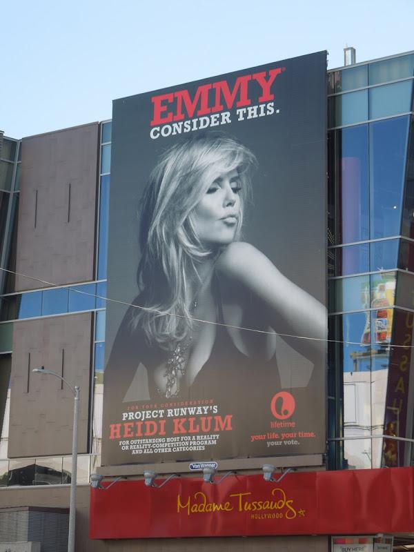 Heidi Klum Emmy 2012 billboard