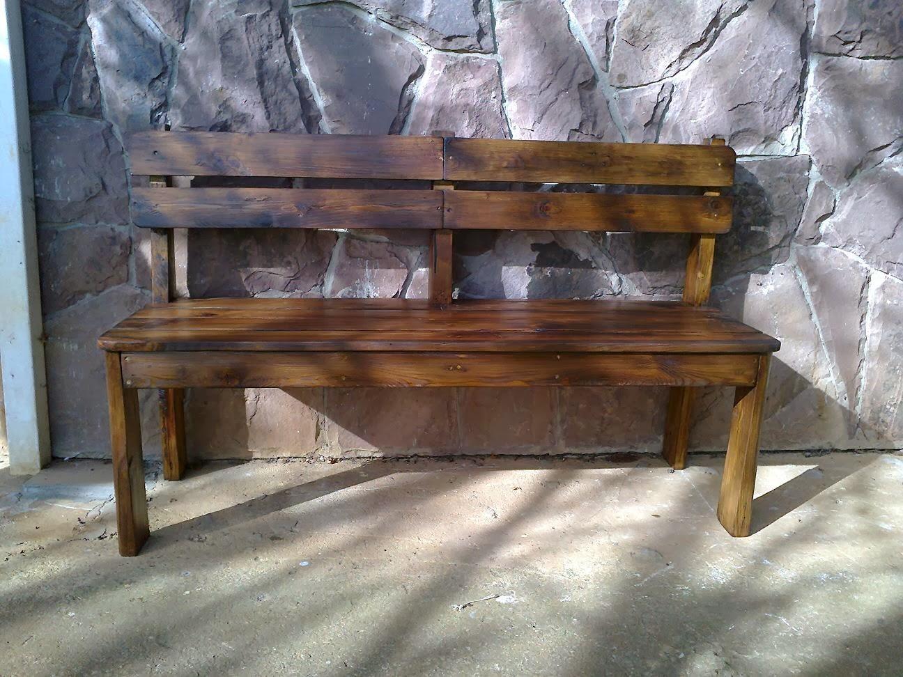 Muebles auxiliares de madera banco de palets - Bancos hechos con palets ...
