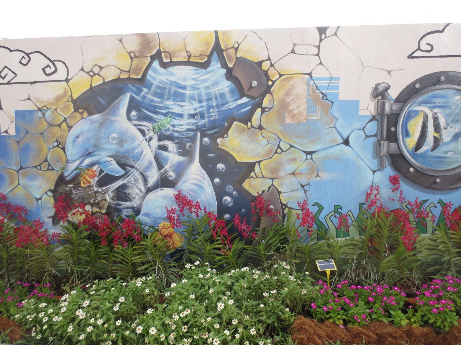 Saje suka suka floria 2015 waktu siang for Mural yang cantik