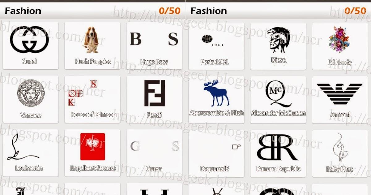 Logo Game Guess The Brand Bonus Fashion Doors Geek