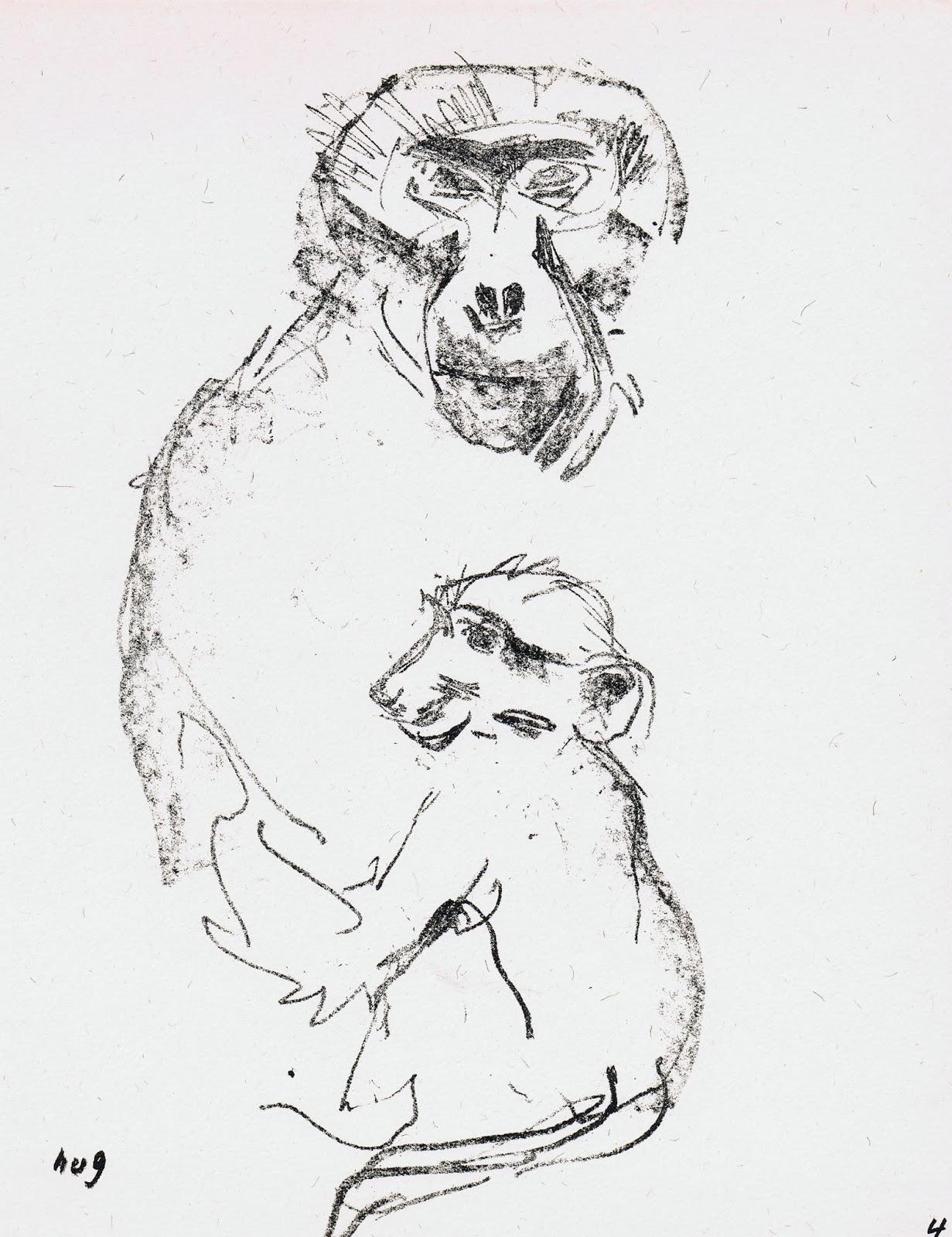 deja view hug animal drawings from the zoo