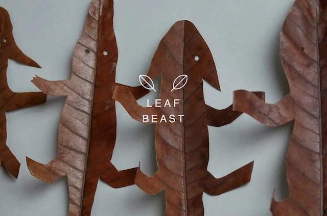 sculpture d'animaux en feuilles mortes de magnolia par l'artiste japonais Baku Maeda , son projet Leaf Beast par Vanessa Lekpa