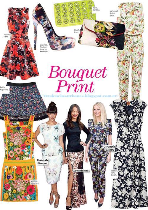 Tendencias de moda verano 2014 Argentina: Estampa floral
