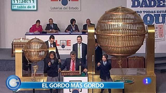 Imagen de RTVE del Gordo de la Lotería de Navidad