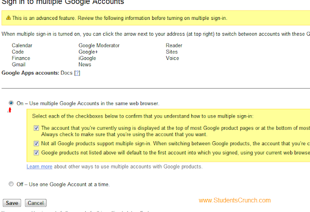 gmail tricks,gmail,two accounts,students crunch