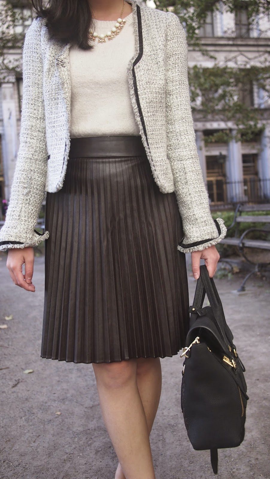 That Working Life: What to wear to work: Pleated Leather Skirt