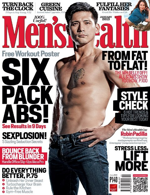 Robin Padilla Covers Men's Health January 2013 Issue