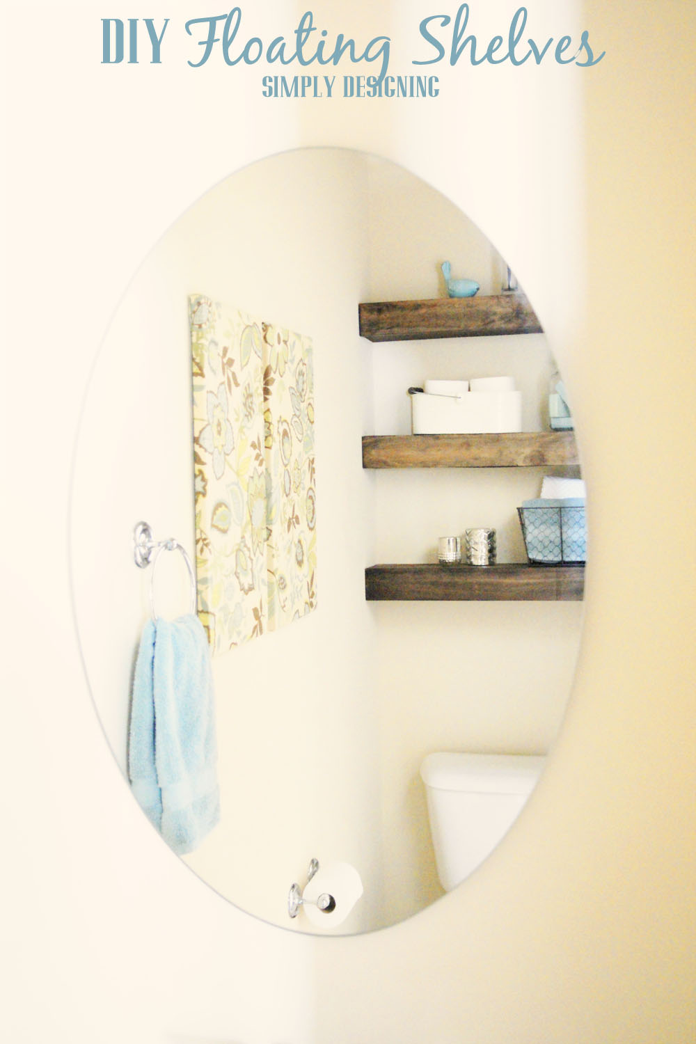 How to Build Floating Shelves | these make a perfect shelf for a bathroom or other small space |  #DIY #shelves #buildit #bathroom