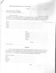 Formulario de pedido de préstamos por receso con garantía