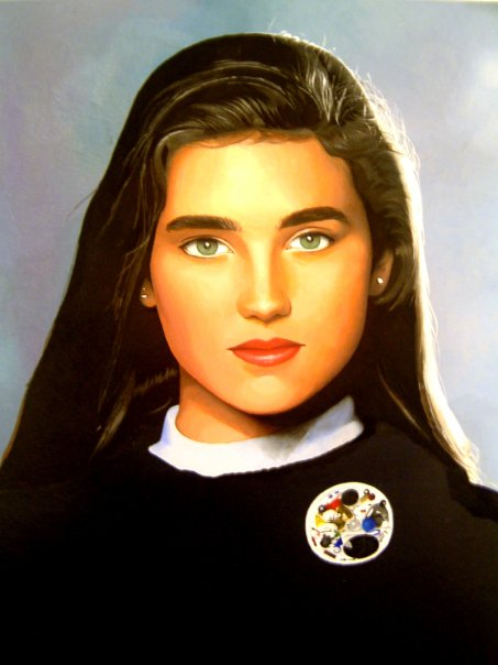 """Jennifer Connelly"" Oil on canvas 16""x20"" 2008"