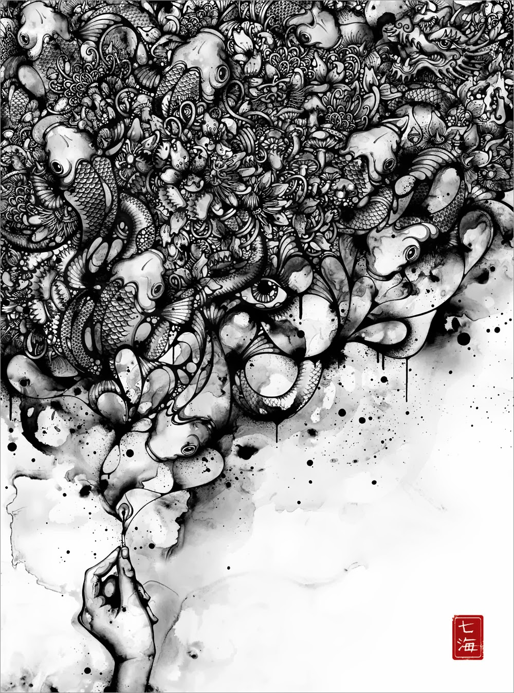 13-Smoked-Nanami-Cowdroy-Splashes-of-Ink-Drawings-www-designstack-co