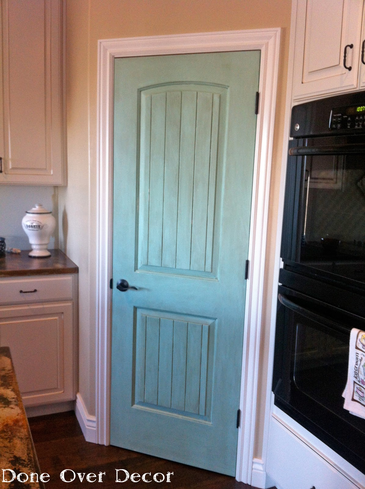 A painted nest house project painted pantry door for Painted interior door designs