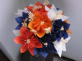 bouquet origami kusudama