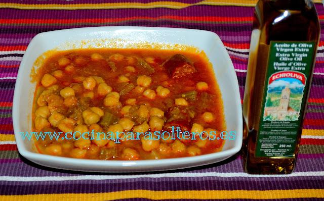Potaje de garbanzos cocina para solteros - Garbanzos olla express ...