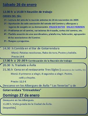 Programa del II Encuentro de Asociaciones del Camino de Santiago del Levante-Sureste