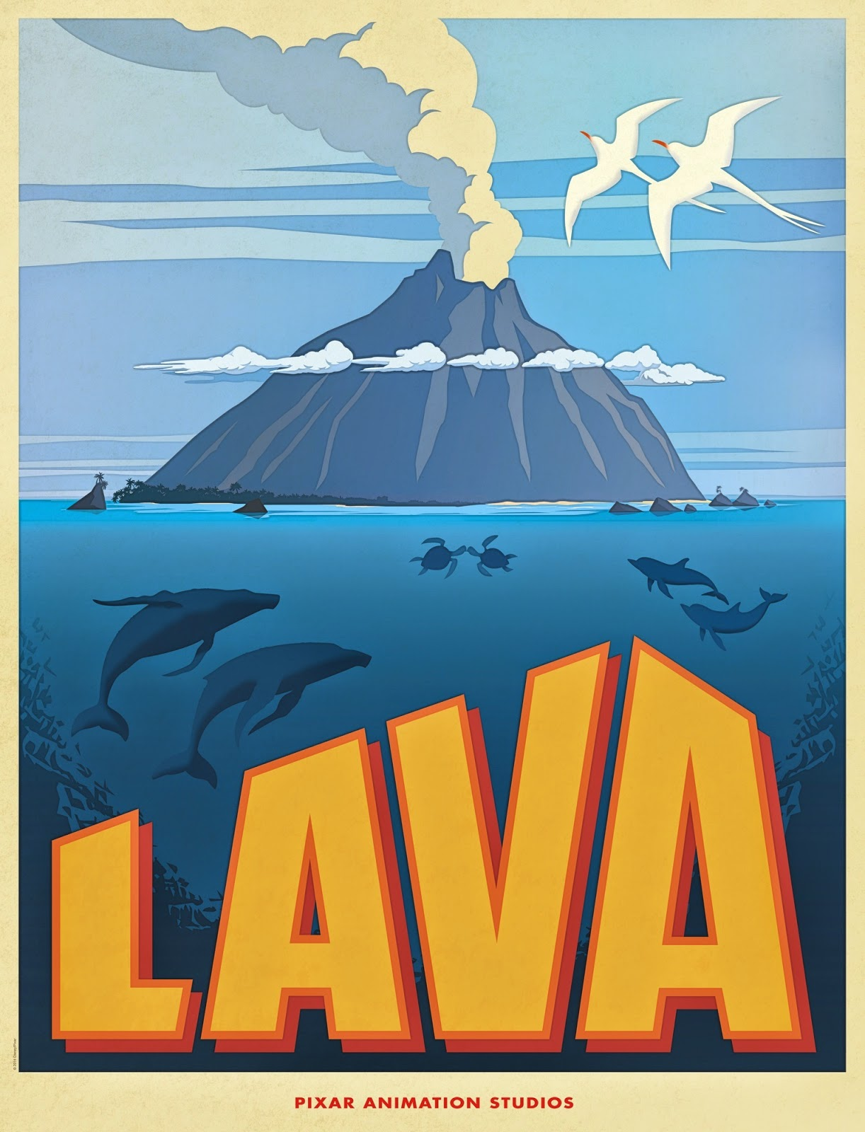 Pixar Short Lava Poster