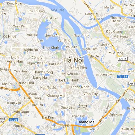 Bản đồ trực tuyến hà nội